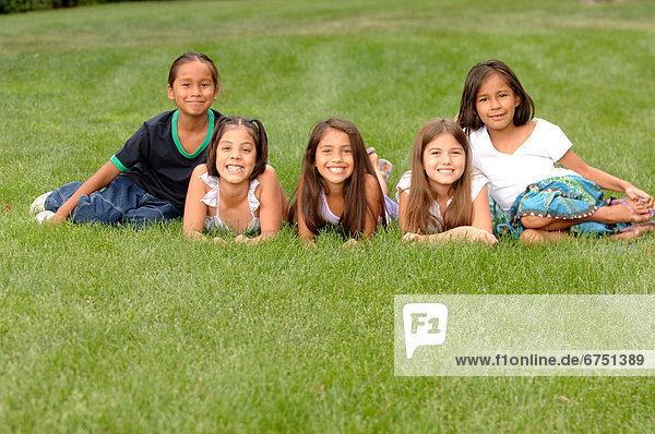 Group of Kids on Grass