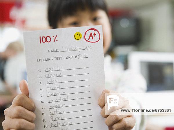 Papier  halten  Student  Grad Celsius