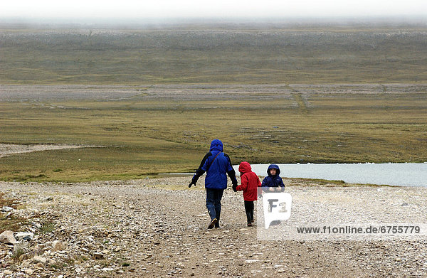 Walking on the Tundra near Cambridge Bay  Nunavut