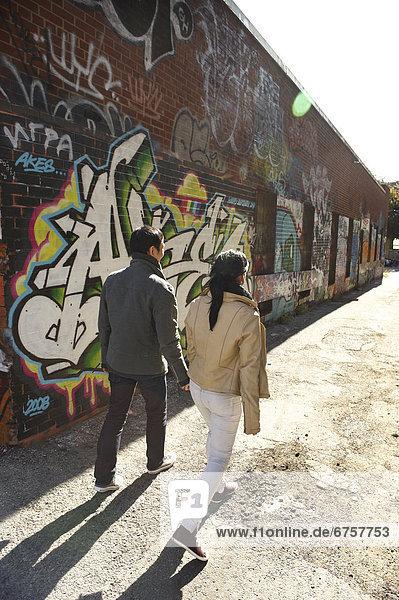 Gasse  jung  Graffiti  Ontario  Toronto