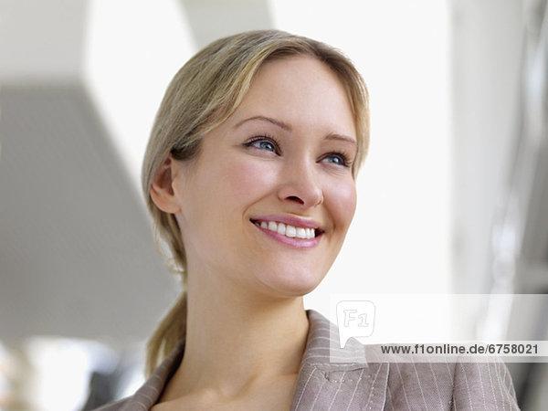 hoch  oben  nahe  Portrait  Geschäftsfrau
