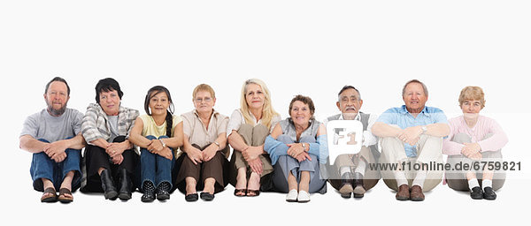 sitzend  Mensch  Boden  Fußboden  Fußböden  Menschen  Menschengruppe  Menschengruppen  Gruppe  Gruppen
