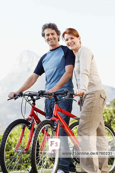 Smiling cyclists