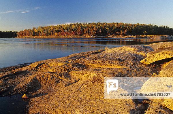 Canadian Shield Rock  Sturgeon Falls  Whiteshell Provincial Park  Manitoba