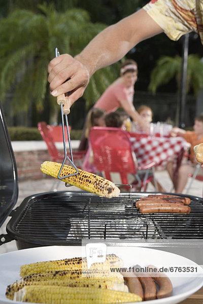 Mais Zuckermais Kukuruz Mann Garten Hot Dog Hot Dogs Hinterhof