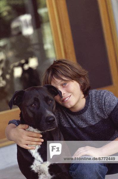 Junge - Person Hund jung