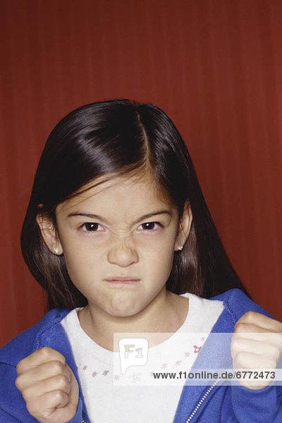 Zorn jung Mädchen