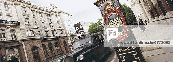 Cab in der Stadt Westminster