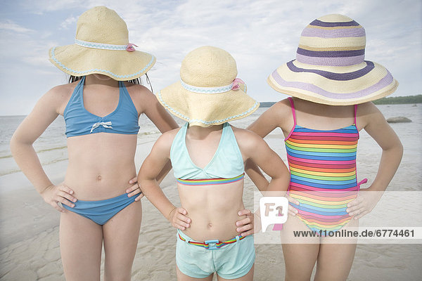 Hut  bedecken  3  Mädchen  Manitoba