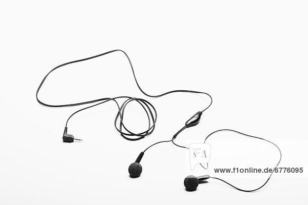 Studio shot of mp3 headphones