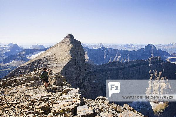 Vereinigte Staaten von Amerika  USA  nehmen  hoch  oben  wandern  Gemälde  Bild  Glacier Nationalpark
