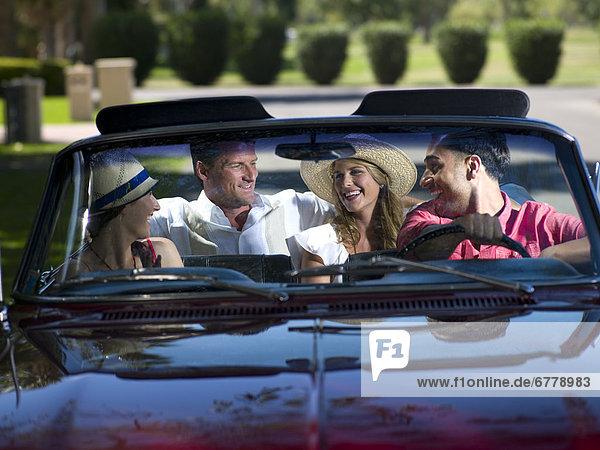 Freundschaft  Auto  Cabrio  fahren
