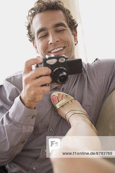 Mann Freundin Fotografie nehmen