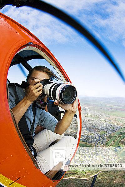 Fotograf Hubschrauber schießen