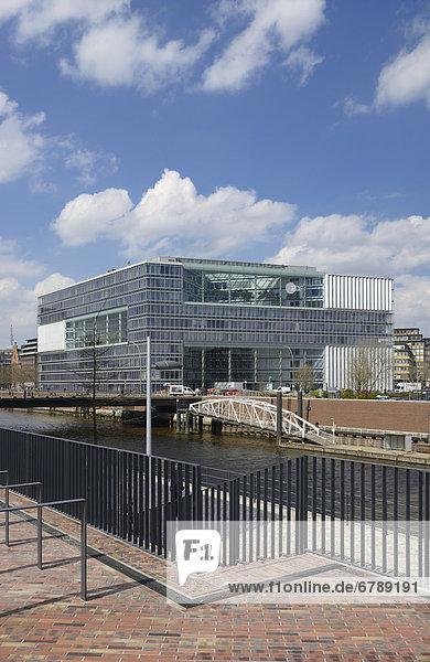 Deichtor-Center Bürogebäude  Oberbaumbrücke  Hansestadt Hamburg  Deutschland  Europa