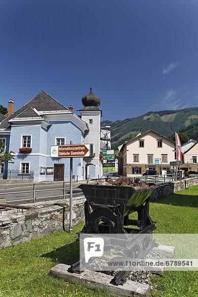 Mining car  Hunt on the Steirische Eisenstrasse road  Vordernberg  Leoben  Upper Styria  Styria  Austria  Europe