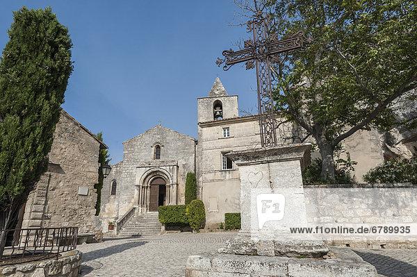 Kirche Saint Vincent  Les Baux-de-Provence  Provence-Alpes-CÙte díAzur  Frankreich  Europa  ÖffentlicherGrund