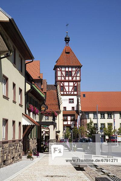 Europa Stadt Großstadt Geschichte Eingang Baden-Württemberg Schwarzwald Deutschland alt
