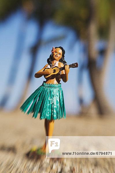 Hawaii  Big Island  Strand  Urlaub  Puppe  Hawaii