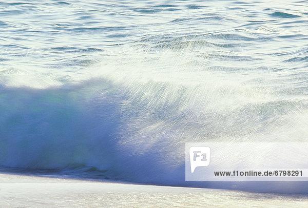 Küste Aktion weiß Zusammenstoß Bewegungsunschärfe Wasserwelle Welle