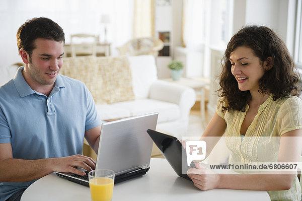 benutzen  Notebook  Tablet PC