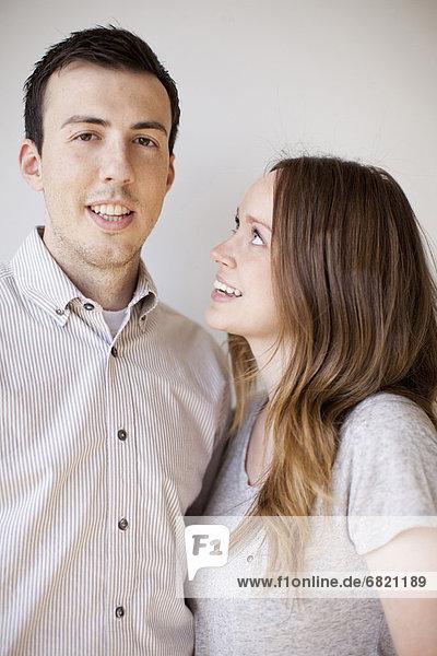 Porträt von glückliches junges Paar