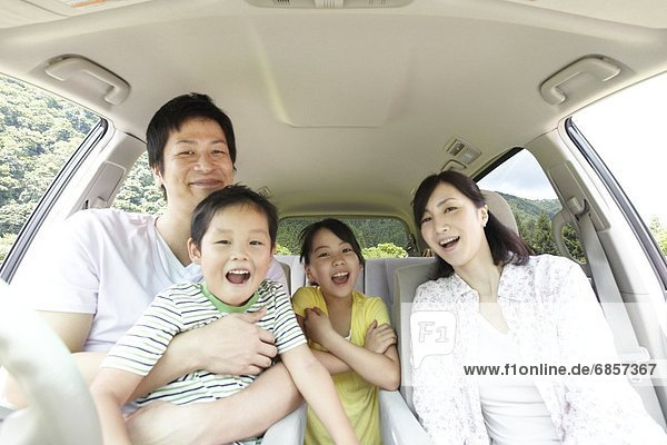 sitzend  lächeln  Auto  japanisch