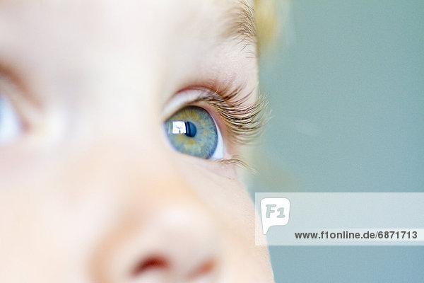 Auge eines kleinen Mädchens  close-up