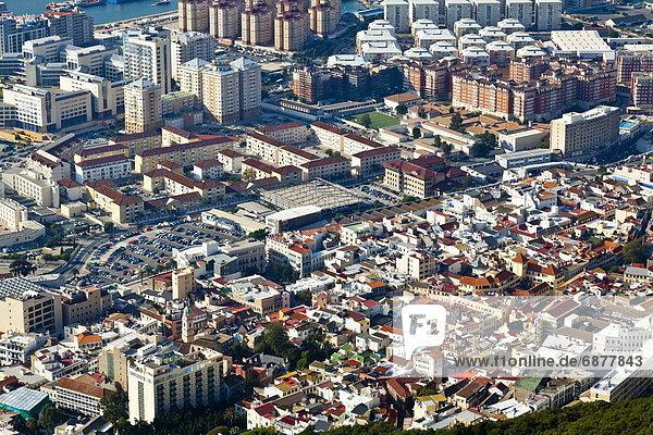 Felsbrocken  Europa  Stadt  hoch  oben  Gibraltar  neu  alt