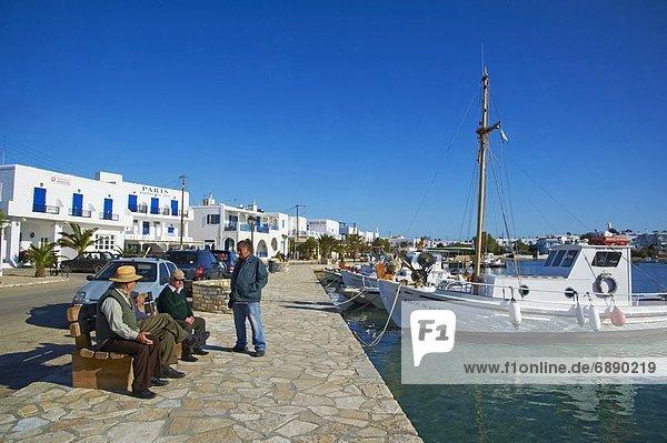 Hafen  Europa  Kykladen  Griechenland  Griechische Inseln  Kastro  Paros