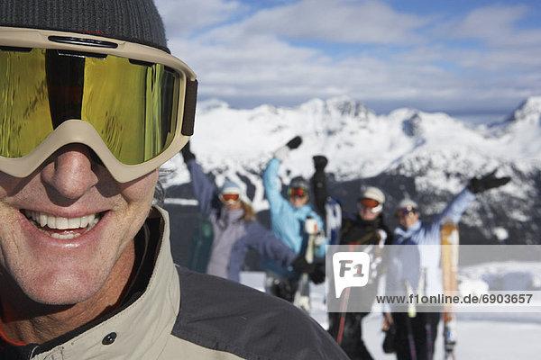 Mensch  Menschen  Hügel  hoch  oben  Ski  Kanada