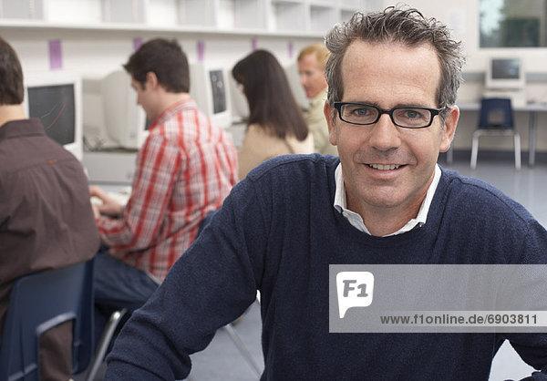 Portrait  Computer  Lehrer