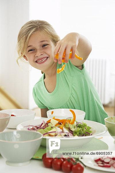Salat  Produktion  Mädchen