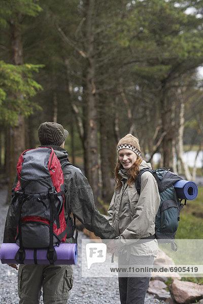 Paar Backpacking