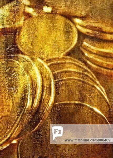 Euromünze  Haufen  Close-up  close-ups  close up  close ups