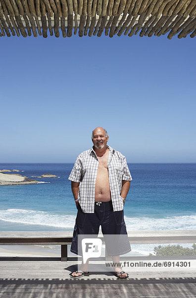 stehend Mann Strand