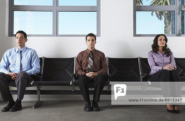 Mensch Menschen warten Zimmer Business