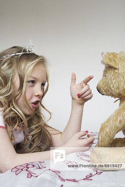 Teddy  Teddybär  Mädchen  spielen