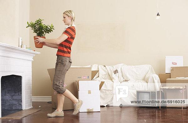 Woman Unpacking