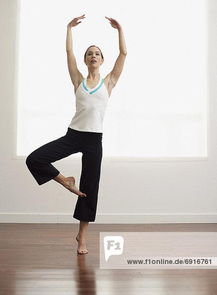 Frau  üben  Ballett
