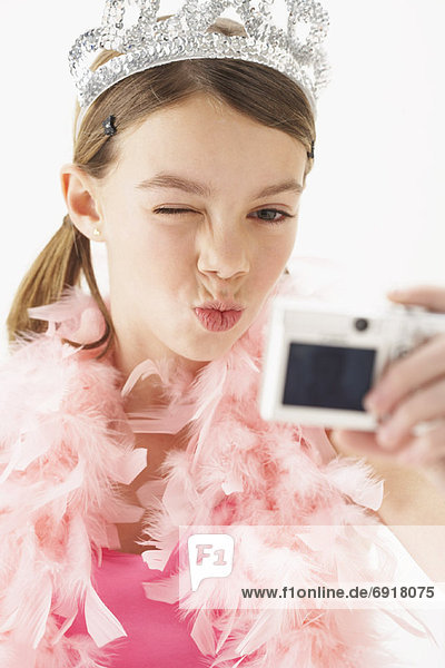 Girl Taking Picture of Self