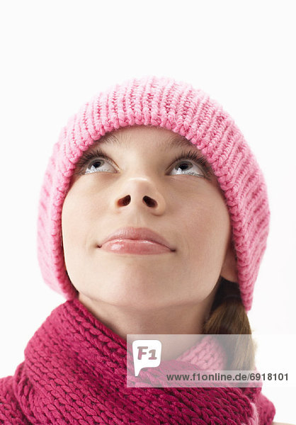 Portrait of Girl in Scarf and Toque