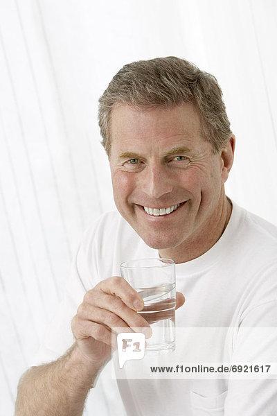 Wasser  Portrait  Mann  Glas