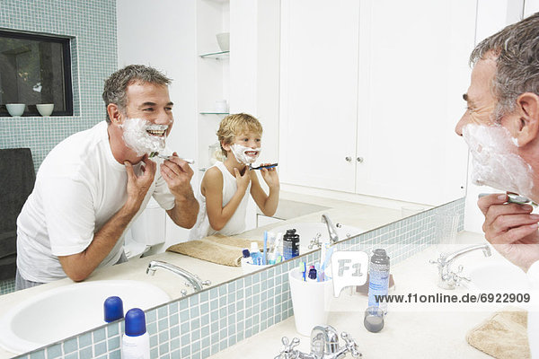 Father Shaving with Son