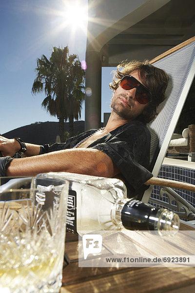 Portrait  Mann  Alkohol  Flasche