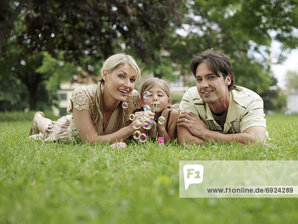 Portrait of Family Outdoors
