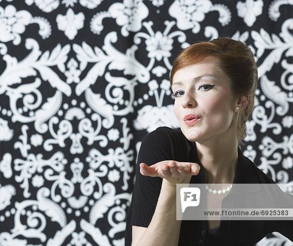 Portrait  Frau  Kleidung  Retro