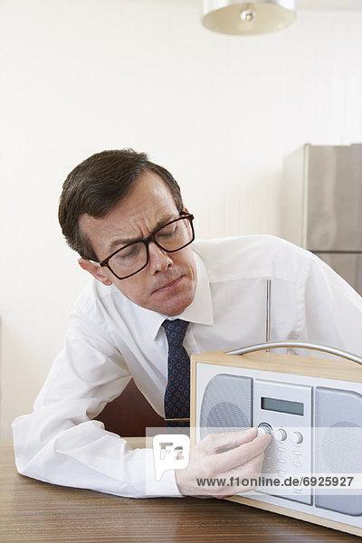 Mann  zuhören