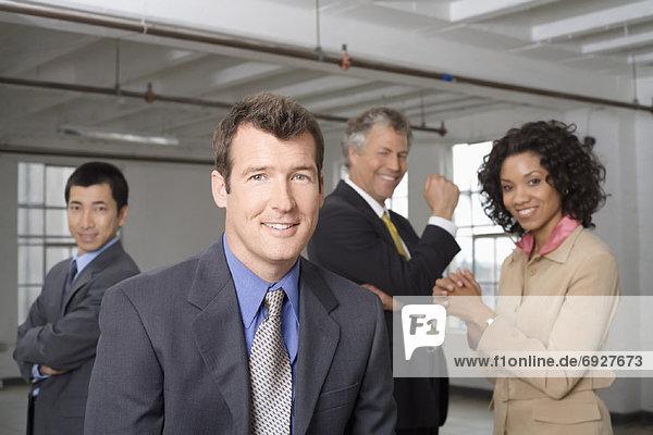 Gruppenporträt der Geschäftsleute