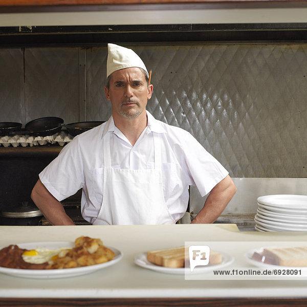 Portrait  Abendessen  Köchin